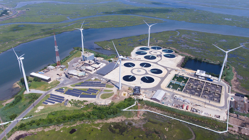 Water Treatment Plant with Windmills