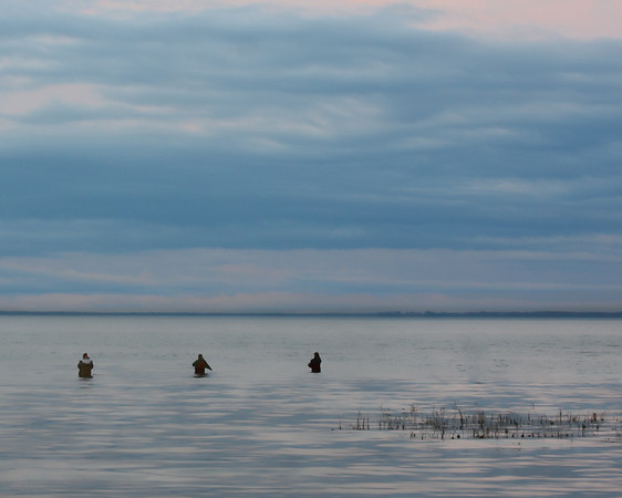 Fishermen at Dusk, Oneida Lake, NY