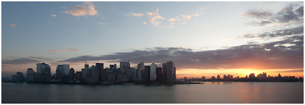 Lower Manhattan at Sunrise