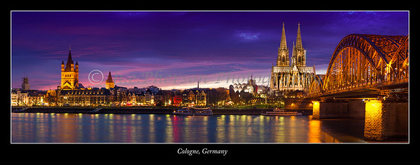 Cologne Germany along the Rhine River