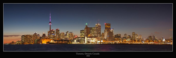 Toronto, Canada,HDR,sunset,2013,panorama,city scape,
