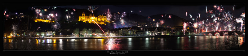 Heidelberg, Germany, New Years Celebration 2013