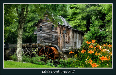 Glades Creek Grist Mill, Babcock State Park, West Virginia,