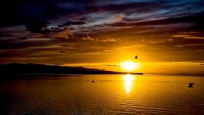 Inside Passage Sunset, Alaska
