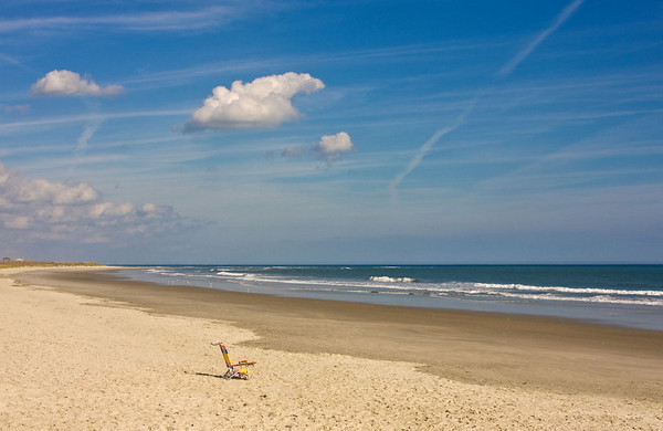 Single beach chair
