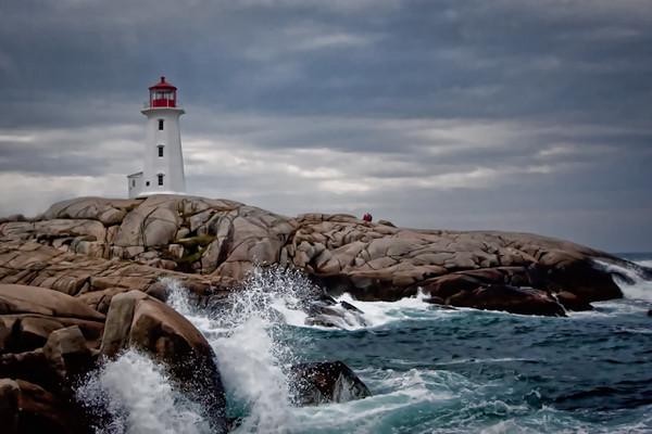 Peggy's Cove Lighthouse, Nova Scotia<br /> Medal Winner, Monmouth (NJ) Camera Club<br /> Winner Dankwart Koehler Award, 2010<br /> (Print of the Year)