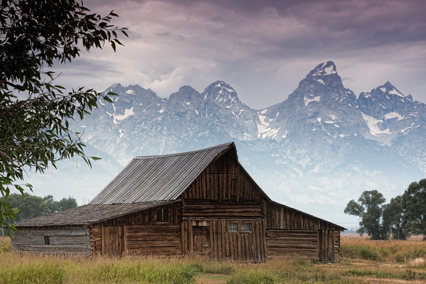 Barn with Grant Tetons