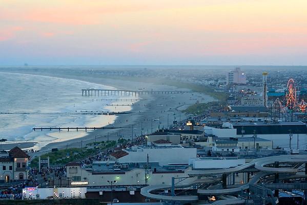 Southern view at dusk, Ocean City, NJ