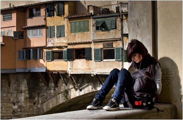 Girl by the Ponte Vecchio
