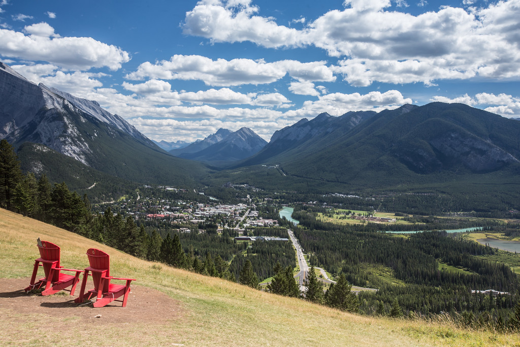 Town of Banff, from Tunnel Mountain overlook