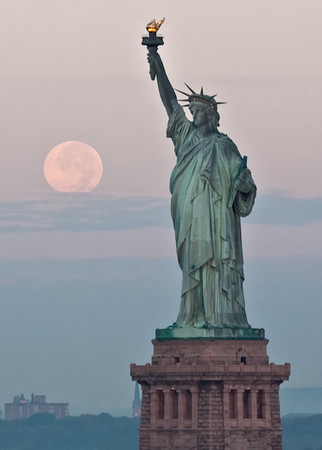 Moon over Miss LIberty