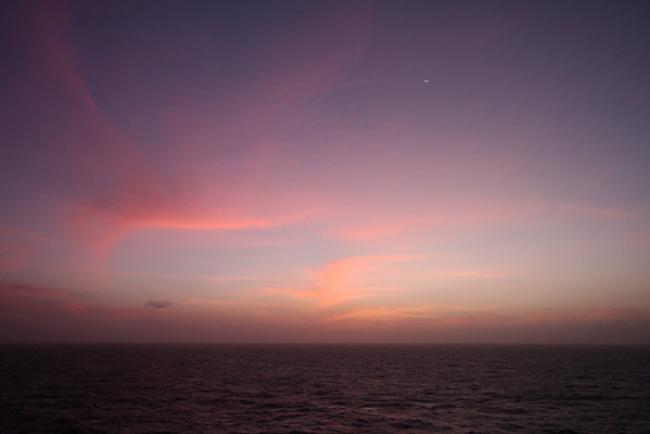 just after sundown, Caribbean