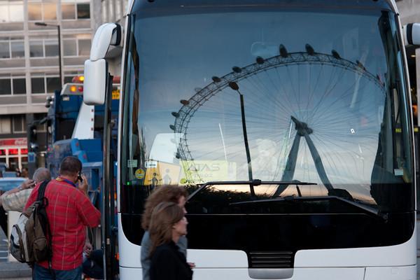 London Eye reflection