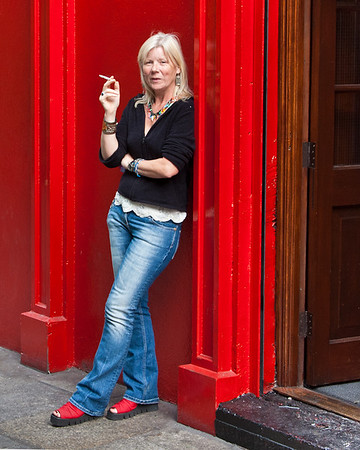Woman with Red Shoes<br /> Dublin