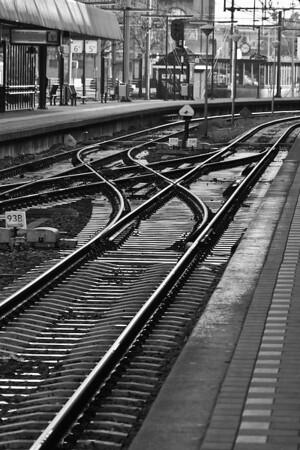 Train Station, Maastricht, Netherlands<br /> Honorable Mention, Monmouth Camera Club<br /> Monochrome division