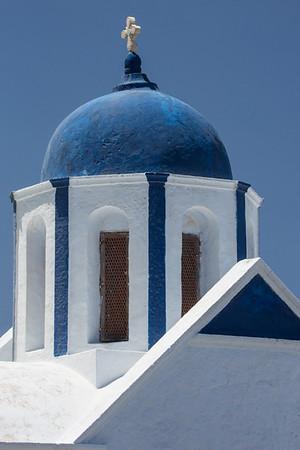 Blue domed church