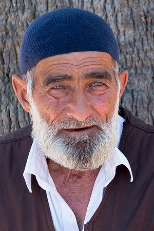Turkish man in a blue knit cap