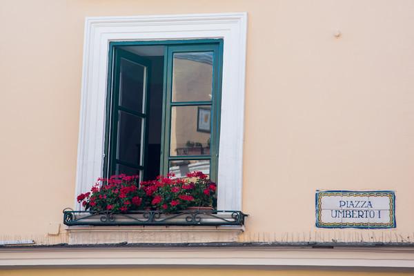 Window at Piazza Umberto, Capri