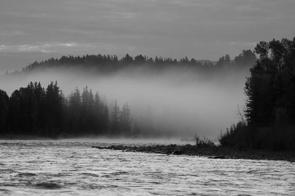 Early morning fog, Snake River