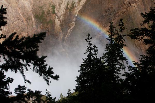 Rainbow at Upper Falls, Yellowstone River