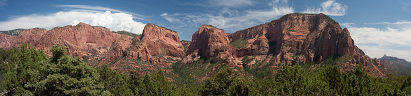Kolob Canyon<br /> Zion<br /> Stitched Panorama