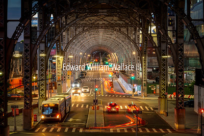 Riverside Drive in Manhattan at Twilight