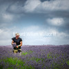 Worker in Lavender Field