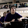 Trail Ridge's Logan Stype reads a question during the 2013 St. Vrain Valley School District Middle School Geography Bee at Altona Middle School in Longmont on Wednesday, Jan. 30, 2013. <br /> (Greg Lindstrom/Times-Call)