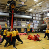 The Lion Dance is performed by the Shaolin Hung Mei Kung Fu Association during the Longmont Chinese New Year Celebration Saturday Feb. 23, 2013 at Silver Creek High School. 2013 is the Year of the Water Snake, the snake is the sixth of twelve zodiac animal designations in the Chinese calendar. The event was sponsored by the Asian-Pacific Association of Longmont. (Lewis Geyer/Times-Call)