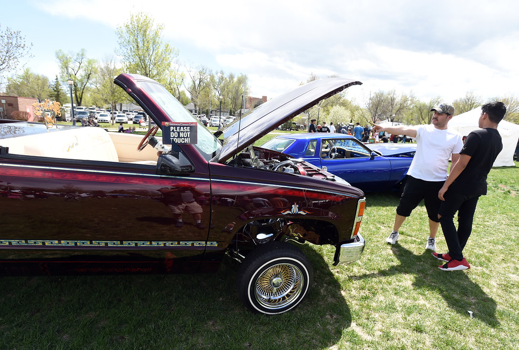 . The low rider cars were popular as usual. Longmont held its annual Cinco de Mayo celebration at Roosevelt Park on Saturday. For more photos and a video, go to dailycamera.com. Cliff Grassmick  Photographer  May 5,  2018