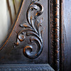 A detail of the beveled glass and ornate decoration on the old door is seen, Wednesday, Dec. 19, 2012, at the Gaccetta's home in Longmont.<br /> (Matthew Jonas/Times-Call)