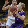 Boulder's Garrett Turner looks for a shot against Fairview's Cubby Lane Saturday night Jan. 19, 2013 at the Coors Events Center. (Lewis Geyer/Times-Call)