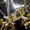 Members of University of Colorado's dance team cheers in front of the student section before the game against UCLA Saturday Jan. 12, 2013 at the Coors Events Center. (Lewis Geyer/Times-Call)