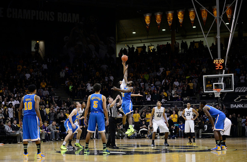 Tipoff between the University of Colorado and UCLA Saturday Jan. 12, 2013 at the Coors Events Center. (Lewis Geyer/Times-Call)