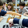 "From left, Sam Honc, 8, Savannah Costello, 10, Abby Honc, 5, Joey Carter, 6, and Ryan Costello, 7, enjoy a game during chess club at the Longmont Public Library on Monday, Feb. 4, 2013. For more photos and a video, visit  <a href=""http://www.TimesCall.com"">http://www.TimesCall.com</a>.<br /> (Greg Lindstrom/Times-Call)"