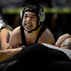 Erie's Brandon Wetsch pins Berthoud's Alex Kingsley in their 132 pound championship match during the Class 4A region 2 wrestling tournament Saturday Feb. 16, 2013 at Frederick High School. (Lewis Geyer/Times-Call)
