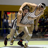 Berthoud's Chad Ellis takes down Golden's Paris Salas in their 145 pound championship match during the Class 4A region 2 wrestling tournament Saturday Feb. 16, 2013 at Frederick High School. (Lewis Geyer/Times-Call)