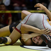 Mead's Jorge Cortez is pinned by Windsor's Jacob Winter in their 220 pound championship match during the Class 4A region 2 wrestling tournament Saturday Feb. 16, 2013 at Frederick High School. (Lewis Geyer/Times-Call)