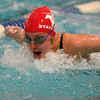 Fairview's Julia Box swims to a fourth place finish in the 100 yard butterfly during the Class 5A State Swim Meet Championships Saturday afternoon Feb. 09, 2013 in Fort Collins. (Lewis Geyer/Times-Call)