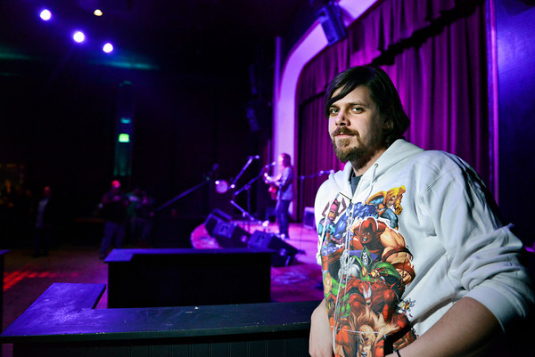 David Bartlett poses for a portrait at Dickens Opera House on Friday, Jan. 18, 2013. <br /> (Greg Lindstrom/Times-Call)