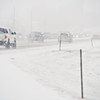 Traffic backs up northbound on Main Street near the Prospect neighborhood in Longmont on Friday, Jan. 11, 2013.<br /> (Greg Lindstrom/Times-Call)