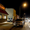 Cars wait in line for the drive-through at Taco John's along Main Street in Longmont on Wednesday, Jan. 23, 2013. General manager Jeff Pini said Tuesday's grand opening was the second best out of all 410 franchises.<br /> (Greg Lindstrom/Times-Call)