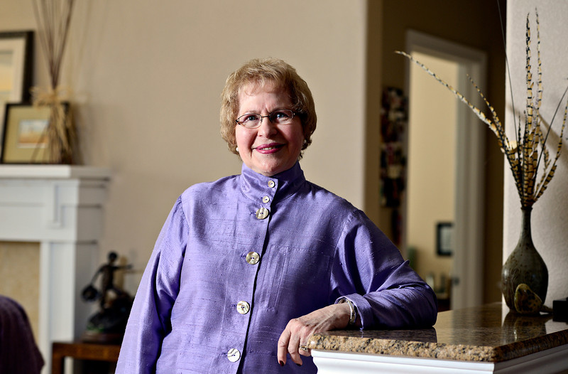 Former Longmont Mayor Leona Stoecker is pictured in her Longmont home on Tuesday, March 5, 2013.<br /> (Greg Lindstrom/Times-Call)