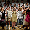 "20121206_CHOIR_033.jpg The Mountain View Elementary School choir performs ""No School Tomorrow"" during the holiday music program, ""Flakes,"" directed by Lana Duley, at Longmont High School on Thursday, Dec. 6, 2012. <br /> (Greg Lindstrom/Times-Call)"