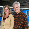 Linda and JD Glietz pose with their airplane, Tuesday, Nov. 14, 2012 at the Vance Brand Municipal Airport. Linda is a local artist part of the Pop-Up Art group in Longmont and JD is an airline pilot.  <br /> (Elaine Cromie/For the Times-Call)