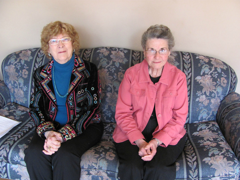 Members of First Evangelical Lutheran Church's archives committee, Jane Haeker and Bonnie Swanson, found a friendship quilt from 1895 in the church's vault.
