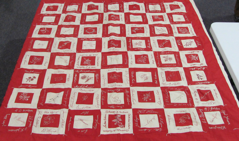 A friendship quilt, made in 1895, will be the featured quilt at this year's Interfaith Quilter of Longmont quilt sale on March 2.