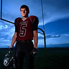 Silver Creek middle linebacker Andre Apodaca poses for a portrait on the practice field, Wednesday, Nov. 14, 2012, at SCHS. <br /> (Matthew Jonas/Times-Call)