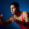 Senior Andre Aragon poses for a portrait at Centaurus High School on Friday, Nov. 16, 2012.<br /> (Greg Lindstrom/Times-Call)
