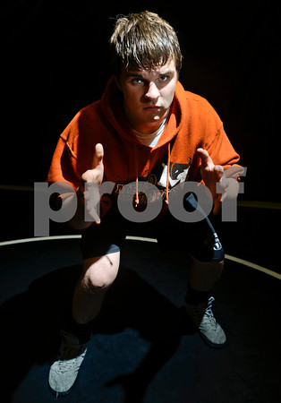 Junior Kyle Couch poses for a portrait at Mead High School on Wednesday, Nov. 14, 2012.<br /> (Greg Lindstrom/Times-Call)